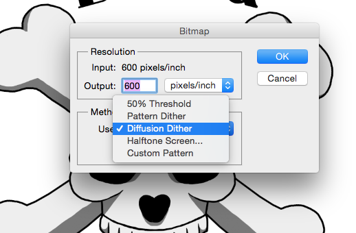 7. Five options to choose from I will show diffusion dither